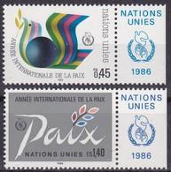 UNO-Genf, 1986, 145/46,  MNH **, Jahr Des Friedens. - Office De Genève