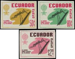 ** EQUATEUR - Poste Aérienne - 402/4, Non Dentelés (tirage 100): Paludisme - Ecuador