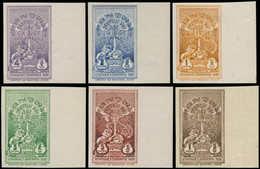 ** ETHIOPIE - Poste - 181/83 + 185/7, 6 Valeurs Non Dentelées, Toutes Bdf: Couronement Hailé Selassié - Ethiopia