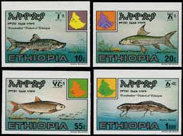 ** ETHIOPIE - Poste - 1123/26, Non Dentelés (tirage 150): Poissons - Ethiopia