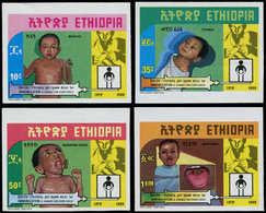 ** ETHIOPIE - Poste - 1209/12, Non Dentelés (tirage 150): Vaccination Infantile - Äthiopien