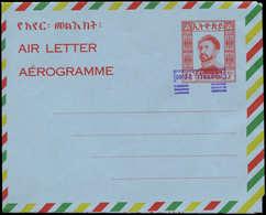N ETHIOPIE - Entiers Postaux - Wiegand 22, Aérogramme, Surcharge Violette Renversée: 0.40/55. Rouge - Ethiopia