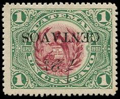 * GUATEMALA - Poste - 158, Surcharge Renversée: 12.5/1c. Quetzal - Guatemala