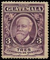 ** GUATEMALA - Poste - 234, Recto-verso: 3c. Violet - Guatemala