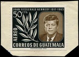 ESS GUATEMALA - Poste Aérienne - 307, Essai Type Non Adopté En Vert Et Brun (moins De 10 Connus): 50c. Kennedy - Guatemala