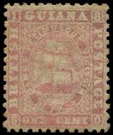 * GUYANE. - Poste - 20, Papier épais, Dentelé 12, Avec Gomme, Très Bel Exemplaire: 1c. Rose (SG) - Guyana (1966-...)