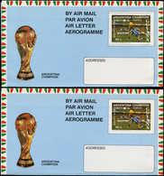 N GUYANE. - Entiers Postaux - Wiegand 21A/B, 23 Aérogrammes, Dentelé + Non Dentelé: Football Argentina 86 - Guyana (1966-...)