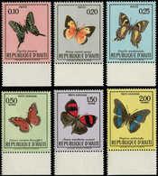 ** HAITI - Poste - 651/3 + A 430/2: Papillons - Haití