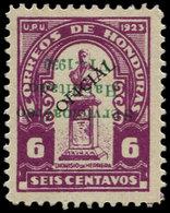 * HONDURAS - Poste Aérienne - 23, Surcharge Verte Renversée (tirage 50), Signé - Honduras