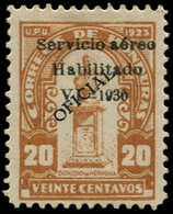* HONDURAS - Poste Aérienne - 25, Surcharge Noire (tirage 100): 20c. Brun - Honduras