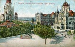 INDIA - Victoria Terminal BOMBAY - VG 1906 Postmarks - Inde