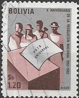 BOLIVIA 1963 Tenth Anniversary Of Revolution (1962) - 1p.20, Ballot Box And Voters FU - Bolivie