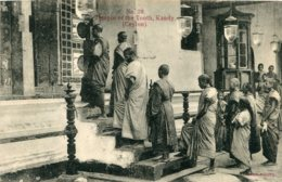 SRI LANKA (Ceylon)  Temple Of The Golden Tooth Kandy - 1916 Censors Imprint London PM - Sri Lanka (Ceylon)