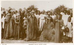 SIERRA LEONE -Gbawbani Devis - Superbly Ethnic View - RPPC - Sierra Leona