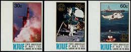 ** NIUE - Poste - 246/8, Non Dentelés, Bdf (tirage 150): Apollo XI, Hélicoptère - Niue