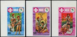 ** NIUE - Poste - 382/4, Non Dentelés, Cdf (tirage 150): Scoutisme - Niue
