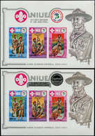 ** NIUE - Blocs Feuillets - 63/64, Non Dentelés (tirage 150): Scoutisme, Baden-Powell - Niue