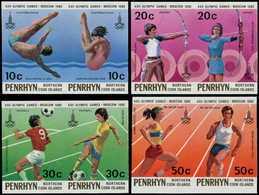 ** PENRHYN - Poste - 125/32, Non Dentelés Se Tenant (tirage 150): Jeux Olympiques De Moscou 80, Football - Penrhyn