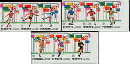 ** PENRHYN - Poste - 187/95, Non Dentelés, 3 Bandes De 3 Se Tenant (tirage 150): Football Espana 82 - Penrhyn