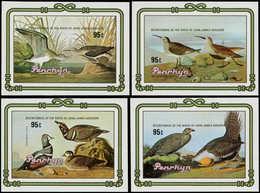 ** PENRHYN - Blocs Feuillets - 61/64, 4 Feuillets Non Dentelés (tirage 150): Oiseaux, Audubon - Penrhyn