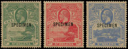 """** SAINTE HELENE - Poste - 55/57, Surcharge """"spécimen"""": George V Et Paysage (SG 89/91) - St. Helena"""