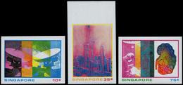** SINGAPOUR - Poste - 228/30, Non Dentelés (tirage 100): Science Et Industrie - Singapore (1959-...)