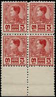 ** THAILANDE - Poste - 194, Non émis En Off-set (normal Gravé), Bloc De 4 Dentelé, Bdf: 3p. Rouge Prajadhipok - Thailand