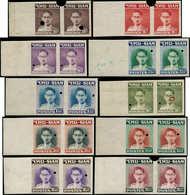 ** THAILANDE - Poste - 250/59, En Paires Non Dentelés Avec Perforations De Contrôle (Mic. 264/73, Cote 2000 Euros En Den - Thailand