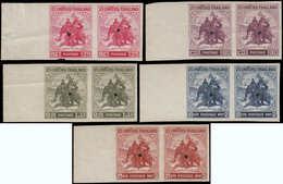 ** THAILANDE - Poste - 287/91, 5 Paires Non Dentelées Bdf, Perforation De Sécurité (1 Feuille Existe): Eléphants. - Thailand