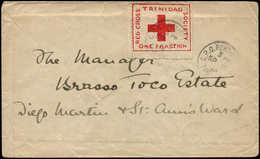 LET TRINITE - Poste - 87A, étiquette Rouge Sur Enveloppe 18/11/14 (un Seul Jour D'utilisation): Croix-Rouge - Trinidad & Tobago (1962-...)