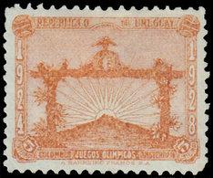 * URUGUAY - Poste - 372, Non émis, 5c. Orange (quelques Pièces Connues): J.O. D'Amsterdam 1928, Football (+ La Normale)  - Uruguay