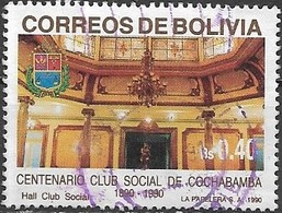BOLIVIA 1990 Centenary Of Cochabamba Social Club - 40c Hall FU - Bolivie