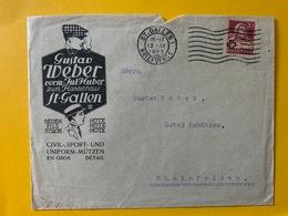 10122 - Enveloppe Gustav Weber St.Gallen Hüte - Textile