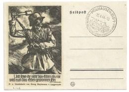 R142 - MULHAUSEN - 1944 - Entier FELPOST KARTE Illustré LINOLSCHNITT Von GEORG SLUYTERMAN - MULHOUSE - - Alsace-Lorraine