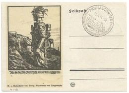 R149 - MULHAUSEN - 1944 - Entier FELPOST KARTE Illustré LINOLSCHNITT Von GEORG SLUYTERMAN - MULHOUSE - - Alsace-Lorraine