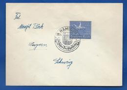Enveloppe  Avec Timbre à 25+50 Deutches Reich  Oblitération:  Hamburg 25/6/ - Cartas