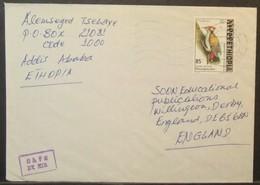 Ethiopia - Cover To England 2000 Bird 85c Solo - Ethiopia