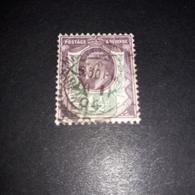 "FB1020 GB KING EDWARD 1 1\2 D. ""O"" - 1902-1951 (Re)"