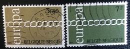 België - Belgique - (o)used - Ref B1/2 - 1971 - Michel Nr.1633#1634 - Europa - Schakels - Belgien