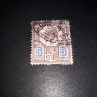 """FB1021 GB KING EDWARD 5 D. PERFIN D.B. """"XO"""" - 1902-1951 (Re)"""