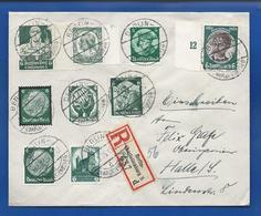 Enveloppe Avec Vignette OSTROPO 1935 +Affranchissement  Multiple Oblitération:  Berlin 17/5/1935 - Allemagne
