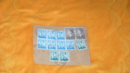 GRAND FRAGMENT DE 1970..BELGIQUE..CACHETS + TIMBRES X 12.. - Postmark Collection