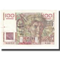 France, 100 Francs, Jeune Paysan, 1953, D AMBRIERES, GARGAM, 1953-06-04, SUP - 1871-1952 Circulated During XXth
