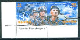 Albania 2010 Peacekeepers 2v Se-ten MNH - Albania