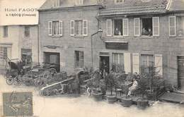 CPA 23 CROCQ HOTEL FAGOT  1918   Rare - Crocq