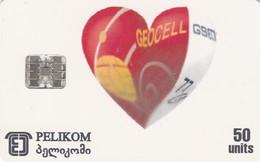 Georgia, GE-PEL-0004, Geocell, Heart, 2 Scans. - Géorgie
