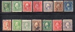 Q311 - STATI UNITI 1890 , FRANKLIN : Alcuni Valori Usati  (M2200) - Used Stamps