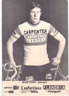 Carte Cyclisme Coureur Cycliste Flandria Carpenter Gerard MARTENS - Cyclisme