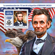 TOGO 2020 - A. Lincoln, Eagle S/S. Official Issue. [TG200162b] - Aigles & Rapaces Diurnes