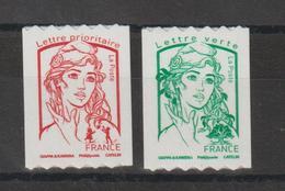 France 2016 Marianne De Ciappa Et Kawena Roulettes 1256 Et 1257 Neufs ** MNH - France